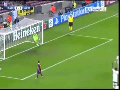 messi amazing goals vs milan ( offside )