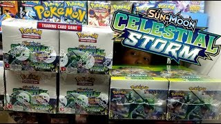 NEW CELESTIAL STORM POKEMON CARDS BOOSTER BOX EARLY OPENING!! THE BEST PULL EVER!!