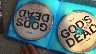 The Godfather Blu-ray, God's Not Dead Blu-ray, and The Godzilla Collection DVD