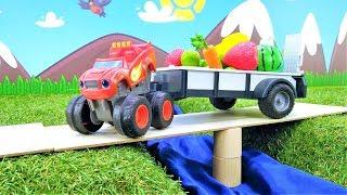Blaze y camiones monstruos recogen la cosecha Coch