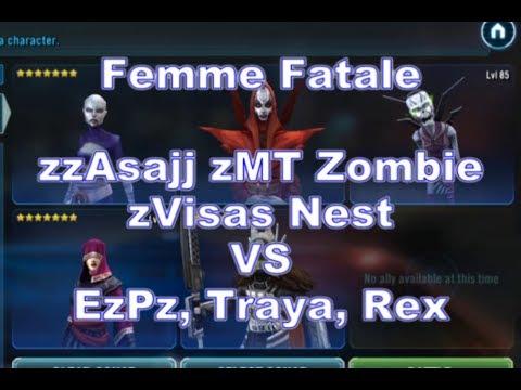 Femme Fatale VS EzPz, Traya, Rex