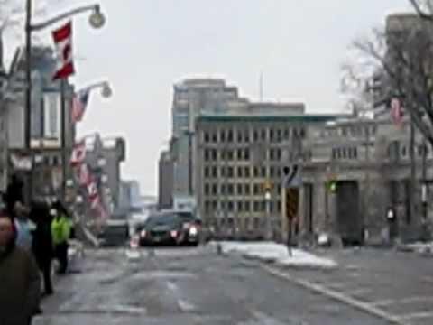Barack Obama's Motorcade, Ottawa, Canada, Feb 19/09