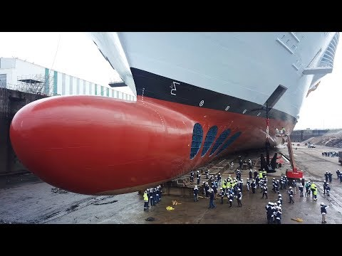Symphony Of The Seas in dry dock