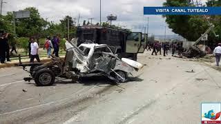 Trailer sin frenos provoca grave accidente en Tuxtla Gutiérrez Video Hay 7 muertos y 9 heridos