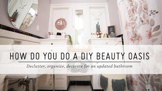 How Do You Do a DIY Beauty Oasis?   Bathroom Makeover   DIY Home Decor   Mr Kate