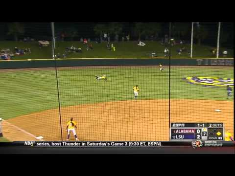04/25/2013 Alabama vs LSU Softball Highlights