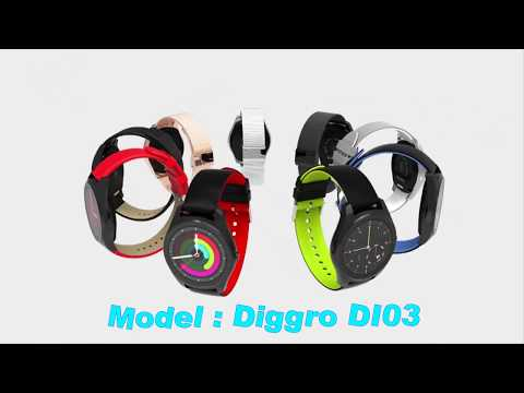 Diggro DI03 Smartwatch IP67 Fitness Tracker Heart Rate Monitor Pedometer Bluetooth Smart Watch Sleep