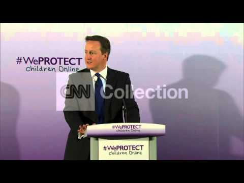 UK: PM CAMERON ON ONLINE CHILD SEXUAL ABUSE