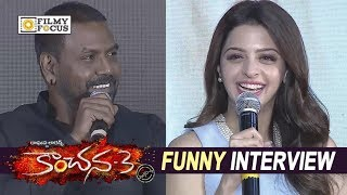 Kanchana 3 Movie Team Funny Interview || Raghava Lawrence, Vedhika