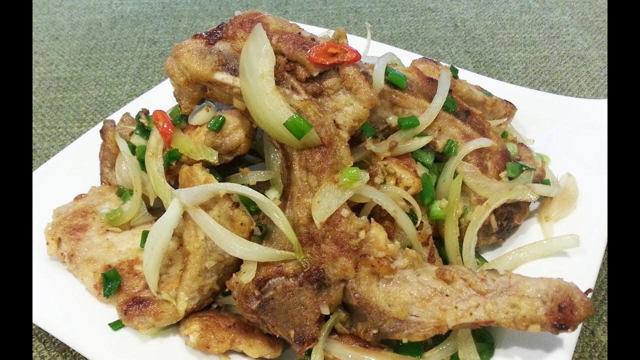 Salt-Fried Pork Recipe — Dishmaps