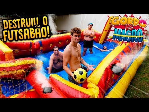 GORDO VS MAGRO: TENTAMOS JOGAR FUTSABÃO!! (DEU RUIM ) [ REZENDE EVIL ]