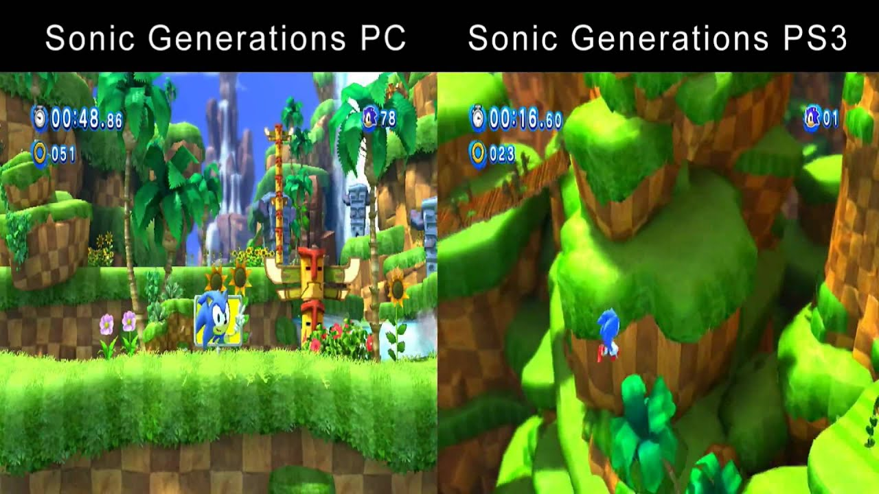 Sonic Generations Why I Play On Pc Pc Vs Ps3 Comparison