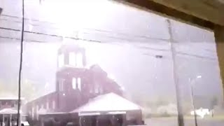 Lightning Strike on the Church Cross Caught on Camera