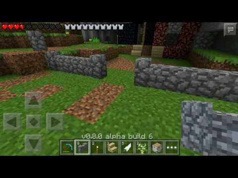 Minecraft Pocket Edition 0.8.0 Beta (Alpha Build 6 Beta Test) Livestream