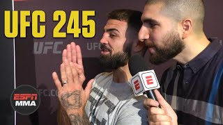 Mike Perry, Ariel Helwani compare noses, Perry wants Covington next | UFC 245 Media Day | ESPN MMA