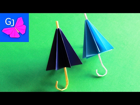 How to make a paper umbrella that open and closes Step by