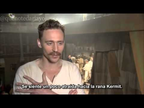 Tom Hiddleston en el set de Muppets Most Wanted