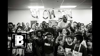 Antonio Brown At StreetCode Academy Connecting With The Community (Free Shoe Giveaway)