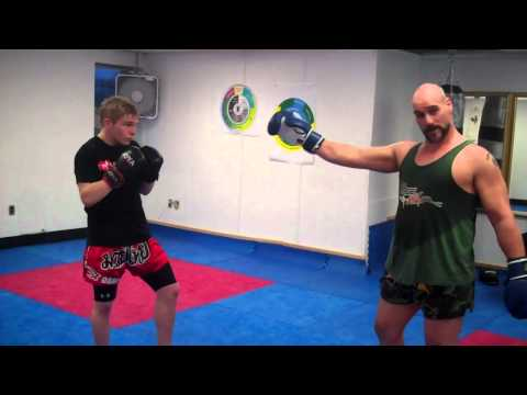 Tutorial on Muay Thai Skip kick counter to Cross Punch Image 1