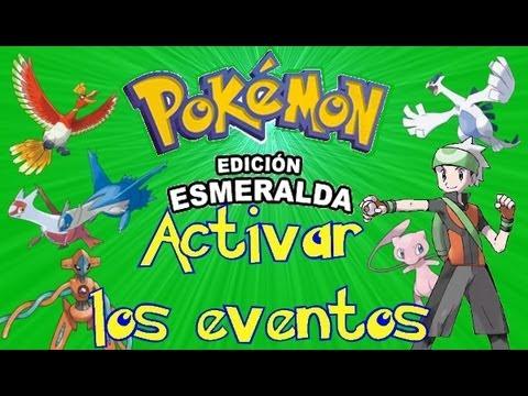 Activar los Eventos de Pokémon Esmeralda en español