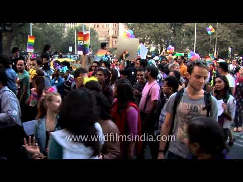 Supporters of LGBT communities at Delhi Queer Pride 2013