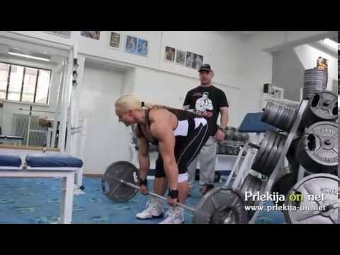 Brigita Brezovac na treningu v Ljutomeru