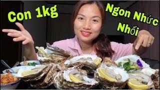 🇯🇵Lần Đầu Ăn Thử Hào Đá Hoàng Đế Khổng Lồ Con 1 kg Tái Chanh Kiểu Thái - Ngon Nhức Nhối #224