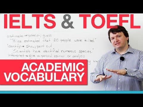 IELTS & TOEFL Academic Vocabulary – Verbs (AWL)