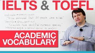 IELTS & TOEFL Academic Vocabulary - Verbs (AWL)