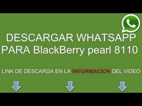 Descargar e instalar whatsapp para BlackBerry pearl 8110 gratis