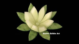 Cucumber Lily Flower Design | Beginners Lesson 24 | Mutita Art Of Fruit & Vegetable Carving