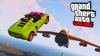 CARGO PLANE CATAPULT! || GTA 5 Online || PC (Funny Moments)