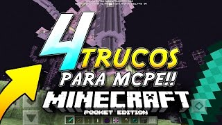 4 TRUCOS PARA MINECRAFT POCKET EDITION 0.17.0 !!! - iPhone / iPad / Android