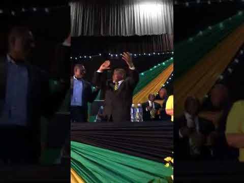 ANC Officials led by the President Comrade Cyril Ramaphosa singing UnityANC Ixesha lisondele