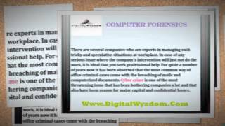 [About Computer Forensics] Video