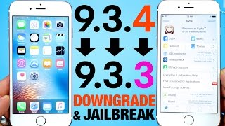 How To Downgrade iOS 9.3.4 to 9.3.3 & Jailbreak!