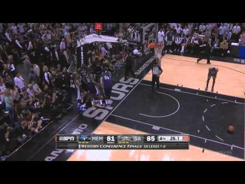 Manu Ginobili flagrant foul on Tony Allen Spurs-Grizzlies WCF Game 2