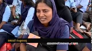 Removal of protest tents ; KSRTC  empanelled conductors strike infront of Secretariat