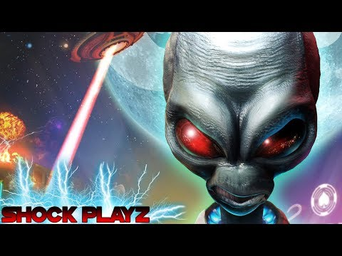 SHOCK PLAYZ DESTROY ALL HUMANS 2 (PS2 Classic)  | Brain Juice An Alien Stuff | RIDE THE WAVE