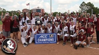 Florida State Wins 6th Straight ACC Softball Championship