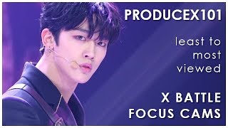 PRODUCE X 101 - X BATTLE Focus Cams - Ranked by Views (YouTube + Naver Views)