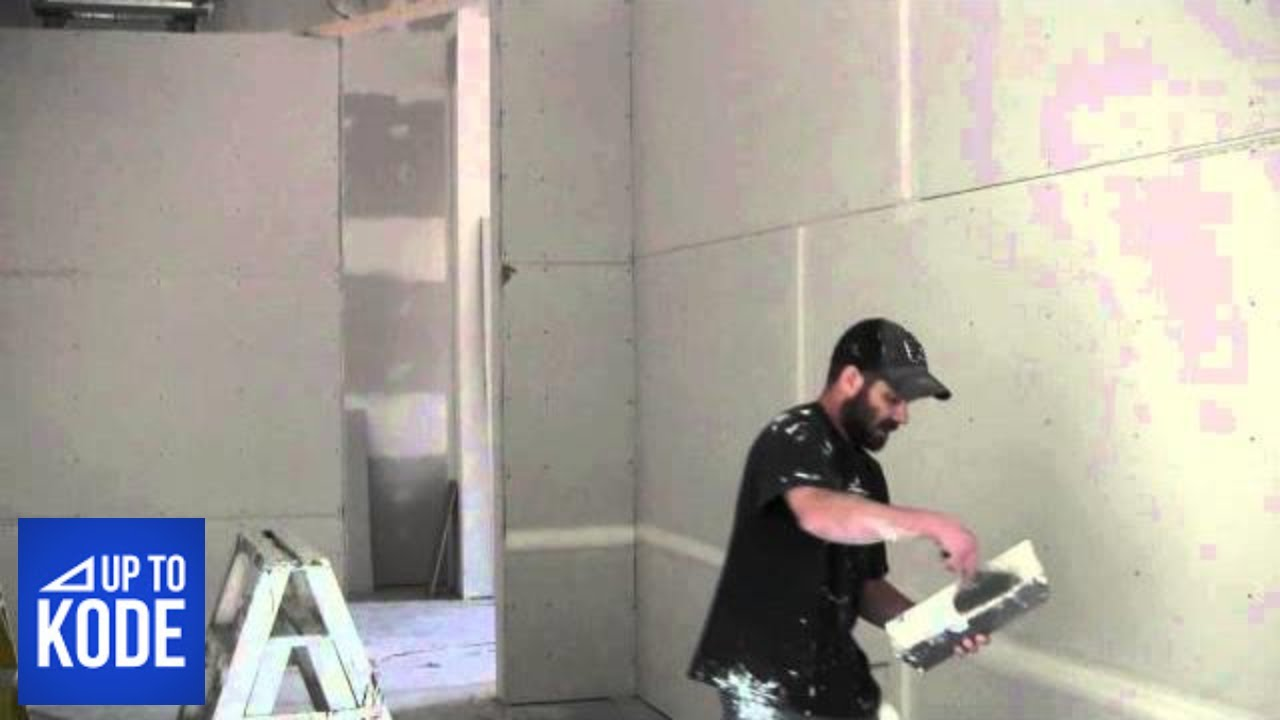 Applying Drywall Tape : How the pro s mix drywall mud and apply tape  youtube
