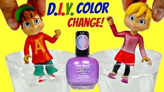 D.I.Y. ALVINNN!!! and the Chipmunks, Alvin & Brittany Color Change Nail Polish Mood Make-over TUYC