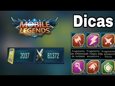BP, TICKET, EMBLEMA E CONQUISTAS - MOBILE LEGENDS