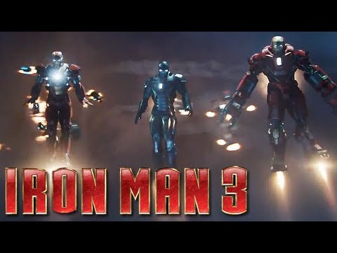 Iron Man 3 - Official Trailer #2 (HD) : Iron Legion. Hulk Buster Armor
