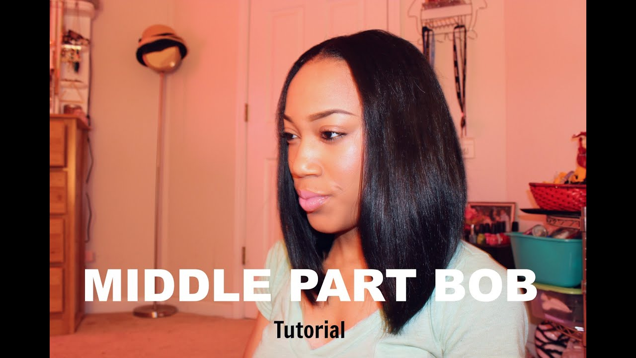 Middle Part Bob | Tutorial - YouTube