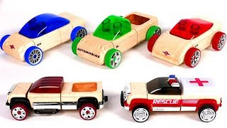Learn Colors with Toy Car Playset for Kids