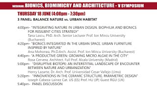 V Symposium Bionics, Biomimicry and Architecture - Panel 3