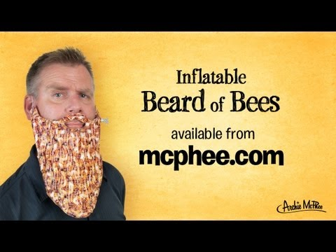 Inflatable Beard of Bees from Archie McPhee