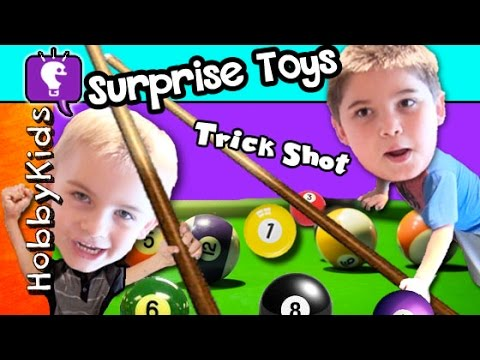 Surprise POOL TABLE Pockets! Blasters Fun Day + Best Surprise Toys HobbyKidsTV